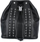 Diesel Black Gold studded drawstring backpack