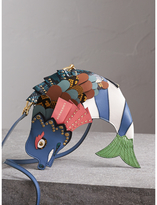 Burberry The Fish – Leather and Snakeskin Crossbody Bag
