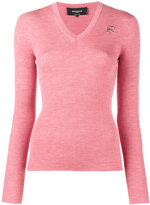 Rochas V neck knitted top - women - Virgin Wool - 38