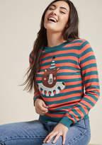Ursa Majorette Intarsia Sweater in 3X - Long Regular Waist by ModCloth