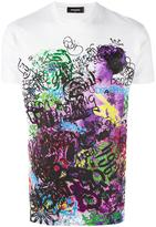 DSQUARED2 graffiti logo T-shirt