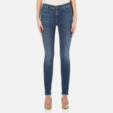 J Brand Women's Maria High Rise Skinny Cross Hatch Super Stretch Jeans Identity
