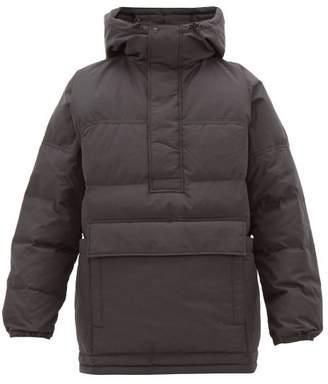 Snow Peak Pullover Down Filled Technical Hooded Coat - Mens - Black