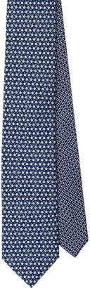 Prada Geometric Print Silk Tie