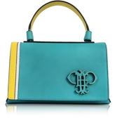 Emilio Pucci Light Blue Leather Shoulder Bag