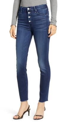 Mother The Pixie Fray Ankle Skinny Jeans