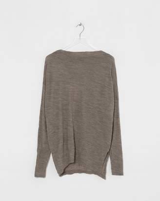 Pas De Calais Beige Asymmetric Pullover