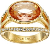 Cole Haan Oval Center Stone Pave Bar Ring