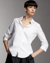 Back-Zip Cohen Shirt, White