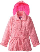 Pink Platinum Platinum Little Girls' Animal Print Trench Jacket Spring Coat