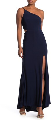 Jump One-Shoulder Side Cutout Gown