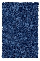 The Well Appointed House Child's Shaggy Raggy Rug in Dark Blue-Available in Three Different Sizes