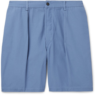 Drakes Slim-Fit Cotton-Canvas Chino Shorts - Men - Blue