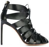 Francesco Russo strappy rear zip pumps