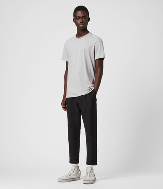 AllSaints Chiswell Linen Blend Cropped Slim Pants