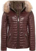 Oakwood Happy Fur Trimmed Down Leather Jacket