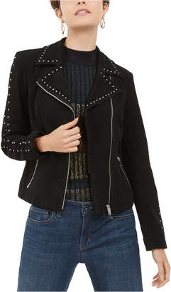 INC International Concepts Inc Suede Studded Moto Jacket