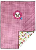 Camilla And Marc Lief! 9600012322 Blanket/Play Mat for Girls with Bunny Appliqué 75 x 100 cm Plaid