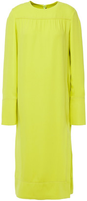Joseph Arlan Layered Neon Silk-crepe Midi Dress