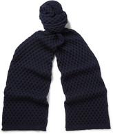 Jil Sander - Honeycomb-knit Wool Scarf
