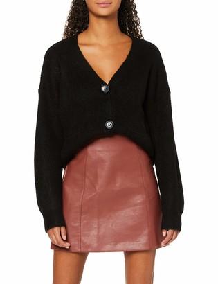 New Look Women's Seamed PU Mini Skirt