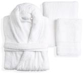 White Terry Towel Set with Terry Bathrobe (5 PC)