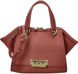 ZAC Zac Posen Eartha Small Double Handle Leather Shoulder Bag