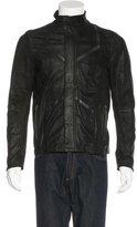 Edun Leather-Trimmed Raw Jacket
