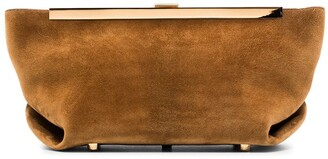 KHAITE Aimee suede envelope clutch bag