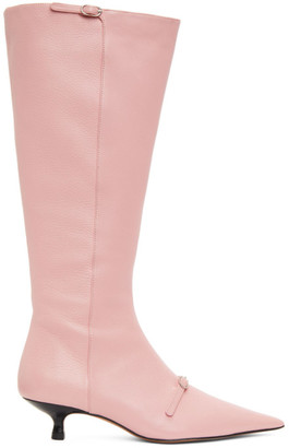 Abra SSENSE Exclusive Pink Flare Boot