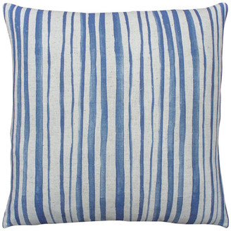 TheWatsonShop Watercolor Striped Linen Throw Pillow