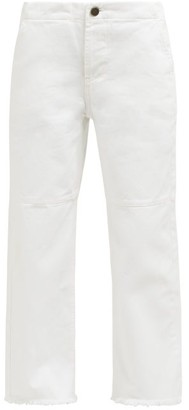 Raey Panelled Wide-leg Jeans - Womens - White