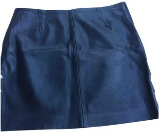 Claudie Pierlot Black Leather Skirt for Women