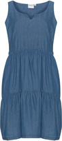 Junarose Plus Size Denim-look cotton dress