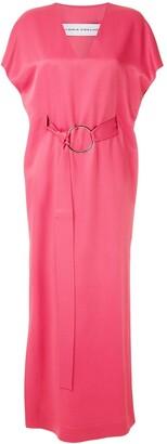 Gloria Coelho Ring Applique Maxi Dress