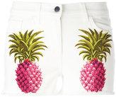 Giamba pineapple print shorts - women - Cotton/Spandex/Elastane - 40