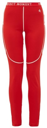 Perfect Moment Thermal Technical-jersey Leggings - Red