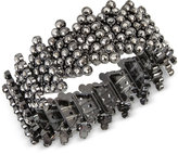 INC International Concepts Hematite-Tone Metallic Pavé Geometric Stretch Bracelet, Only at Macy's