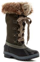 London Fog Melton Luxe Faux Fur Trim Boot