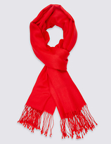 M&S Collection Modal Blend Scarf with Wool