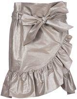 Isabel Marant 'liliko' Lamé Ruffled Skirt