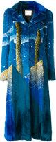 Marco De Vincenzo long faux fur coat