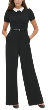 Tommy Hilfiger Collared Belted Jumpsuit