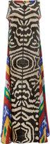 Afroditi Hera zebra print maxi dress - women - Silk/Polyester/Viscose - 44