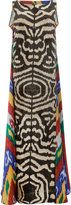 Afroditi Hera zebra print maxi dress