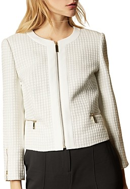 Ted Baker Jenniah Zip-Front Cropped Jacket
