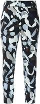 Egrey - printed skinny trousers - women - Cotton/Spandex/Elastane - 36