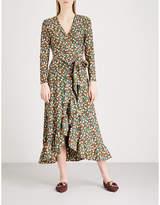 Ganni Alameda woven wrap dress