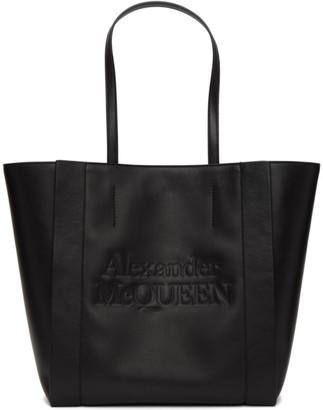 Alexander McQueen Black Signature Shopping Tote