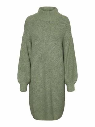 Noisy May Women's NMROBINA L/S HIGH Neck Knit Dress S